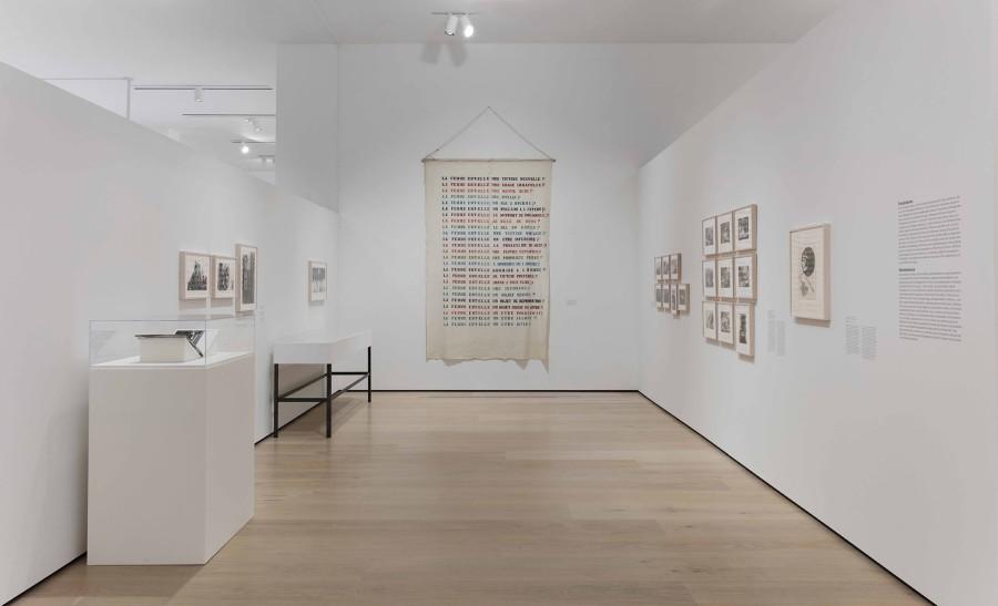 """Vista de la exposición Radical Women: Latin American Art, 1960-1985. Sección """"Feminisms"""". Hammer Museum, Los Angeles, 2017. Foto: Brian Forrest"""