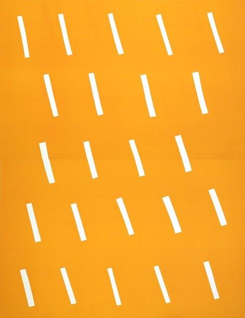 Antonio Ballester Moreno, Lluvia, 2017, litografía, 140 × 100 cm, edición de 15. Cortesía del artista y Polígrafa Obra Gráfica (Madrid).