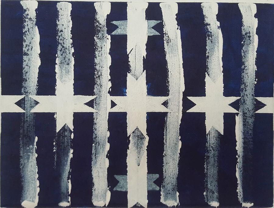 Emilia Azcárate, Sin título, 2017, acrílico sobre tela, 19 x 24 cm. Cortesía de la artista y Henrique Faria Fine Art (Nueva York/Buenos Aires)
