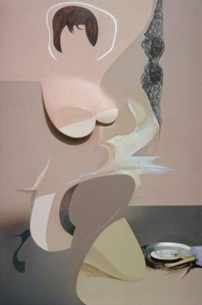 Richard Hamilton, Pin-Up, 1961, óleo, celulosa y collage sobre papel, 122 x 81 cm. MoMA