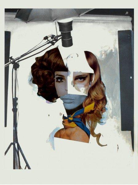 Richard Hamilton, Fashion Plates (cosmetic study V), 1969, collage, acrílico y cosméticos sobre papel litografiado, 100 x 70 cm. Colección particular