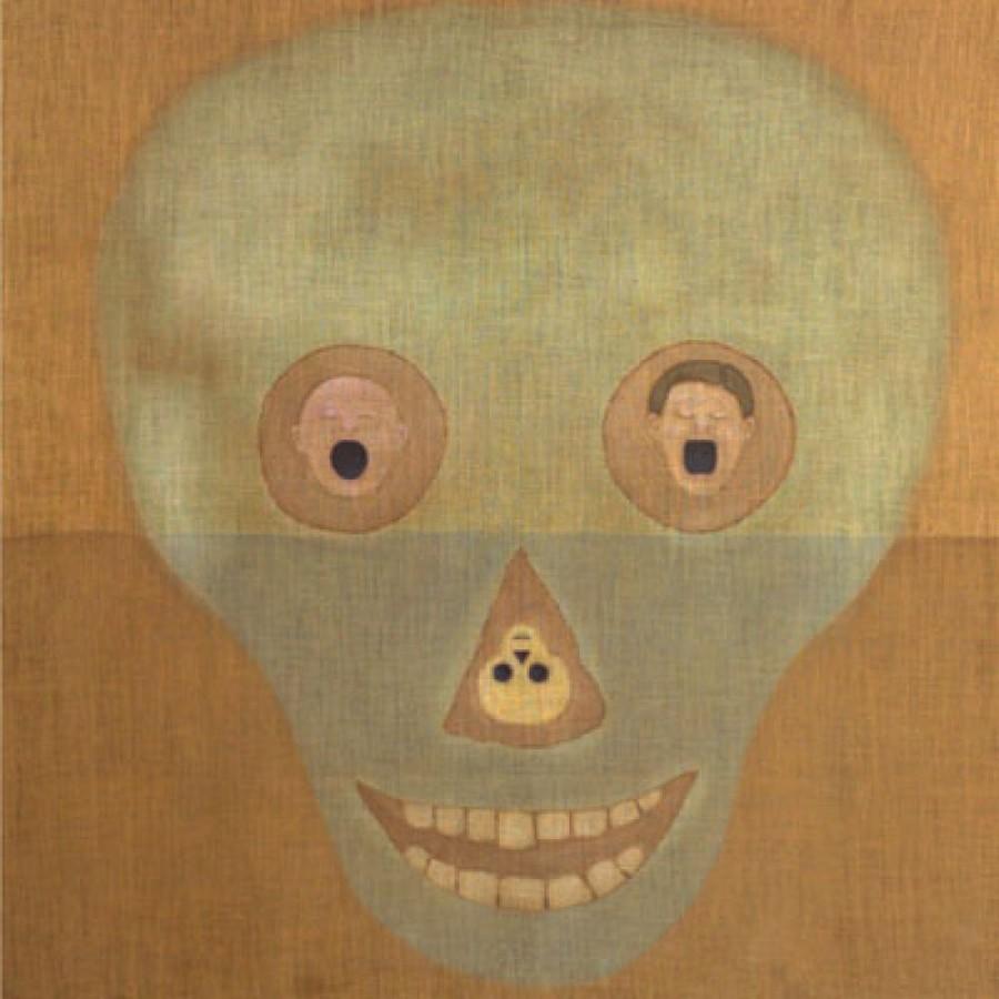Jorge Eduardo Eielson, Autorretrato definitivo, 1985, acrílico sobre yute, 180 x 180 cm. Museo de Arte de Lima. Fondo de Adquisiciones 2007. Cortesía: MALI