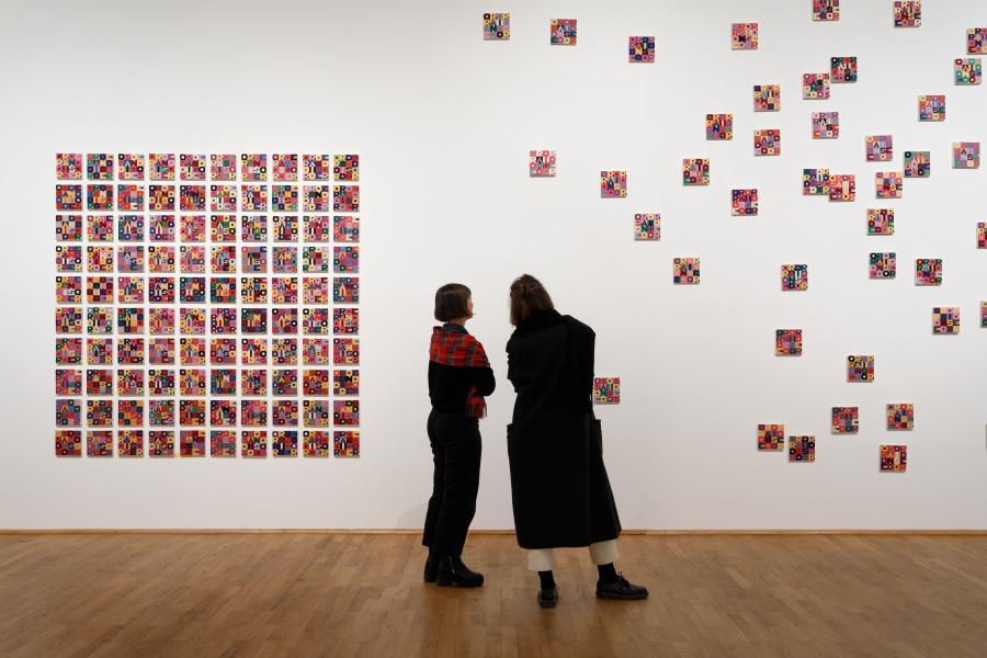 Alighiero Boetti, Order and Disorder, 1985-1986 © VG Bild-Kunst, Bonn 2017. Foto: Axel Schneider