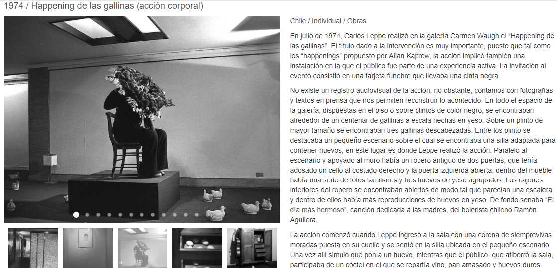 """""""Cómo se hacen las cosas"""", un proyecto investigativo basado en la obra de Carlos Leppe como archivo virtual de acceso público. Cortesía: carlosleppe.cl"""