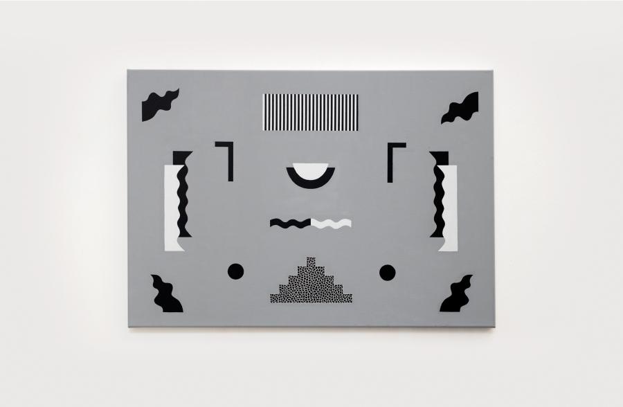"""Vista de la exposición """"Jazzy"""", de Paula «SNKE» Godoy, en Galería TOC, Santiago de Chile, 2017. Foto: Fernando Liberona"""