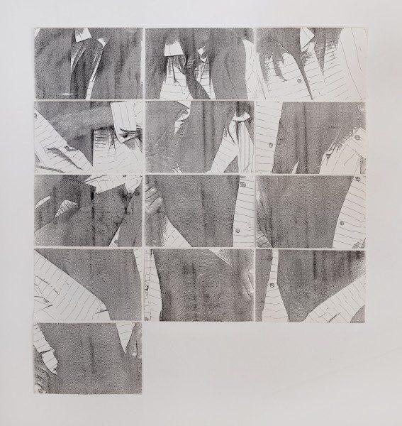 Hudinilson Jr., Sin Título, c.1980, fotocopia, 21,5 x 33 cm (cada una, políptico de 13 hojas).Cortesía: Galería Jaqueline Martins