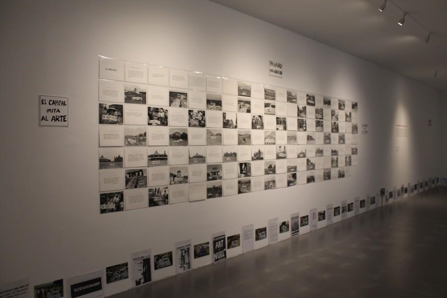"""Vista de la exposición """"Los viajes de Ginzburg, 1972-2017"""", en el Museo de Arte Carrillo Gil, Ciudad de México. Cortesía: MACG"""