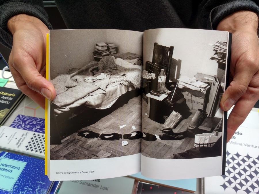 Una conversación con Claudio Bertoni, por Felipe Cussen, Daniela Escobar, Andrés Florit, Cristóbal Joannon. Ediciones Overol (Chile). Feria Impresionante 2017. Foto: Alejandra Villasmil