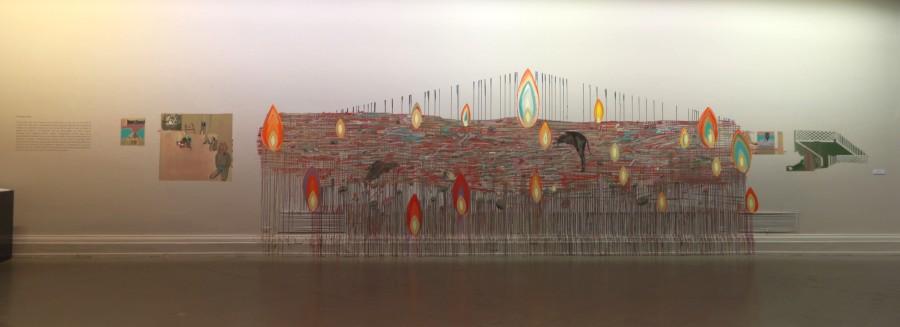 Menos, de Ignacio Gumucio, parte de la muestra colectiva Menos es Más, en el Museo Nacional de Bellas Artes, Santiago de Chile. Foto cortesía MNBA