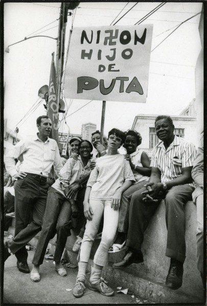 José A. Figueroa, Nixon hijo de puta, La Habana, mayo de 1970. Colección Leticia y Stanislas Poniatowski. © José A. Figueroa