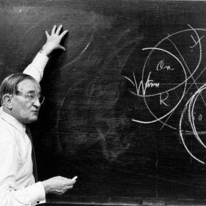 Josef Albers en la Universidad de Yale, 1955-1956. Cortesía:Josef and Anni Albers Foundation