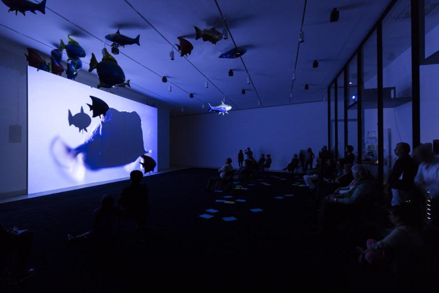 Vista de la muestra La levadura y el anfitrión de Philippe Parreno en Museo Jumex, Ciudad de México. Foto: Andrea Rossetti, cortesía del museo.