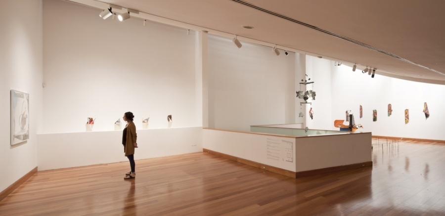 Vista general de exposición Pictogramas, de Gerardo Pulido. Sala 1 del MAVI. Foto: Sebastián Mejía, cortesía del artista.