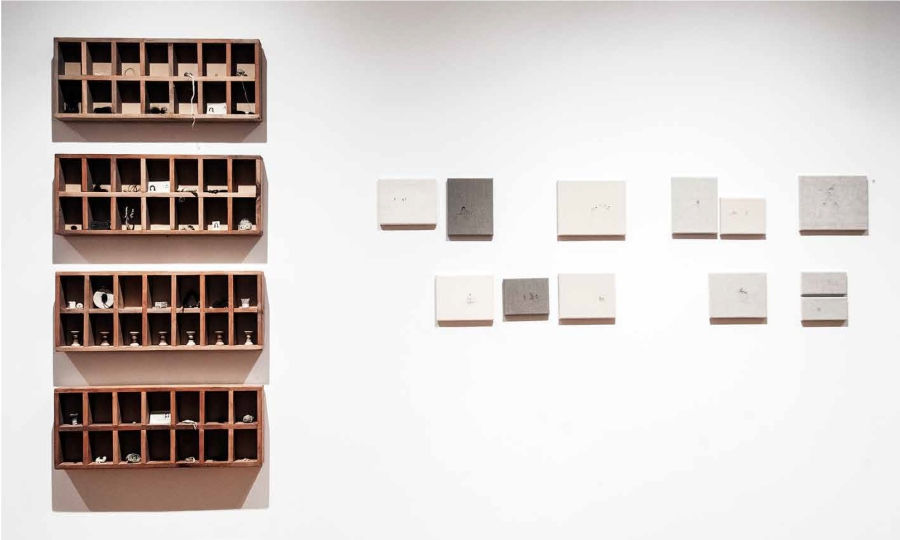 Paulina Olguín, La Nostalgia de la Imagen, 2017, técnica mixta. 1,5 x 3,0 m. Cortesía de la artista