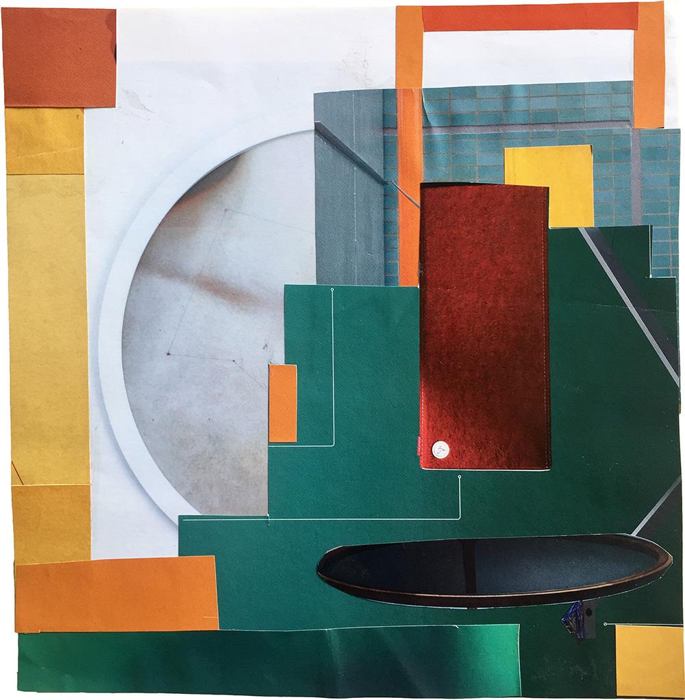 Elisabeth Wild, Sin título, 2017, collage de papel, 23.5 x 18 cm. Cortesía de la artista y Ruberta