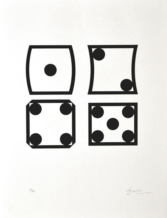Joan Brossa, Contra l'atzar, 1989, litografia, 50 x 38 cm. Edición 50 ejemplares. Cortesía de la galería