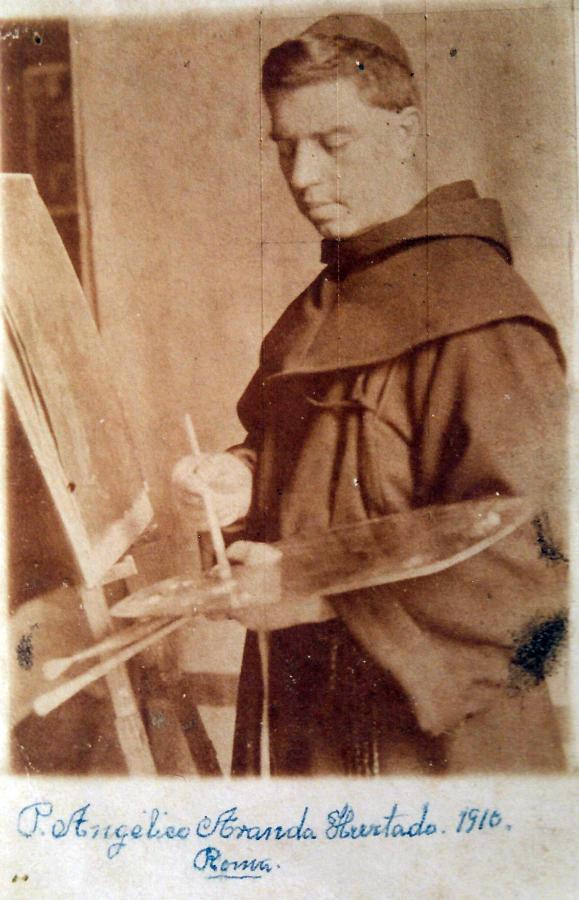 Fray Angélico Aranda, Roma 1910. Archivo de Christian Matzner.