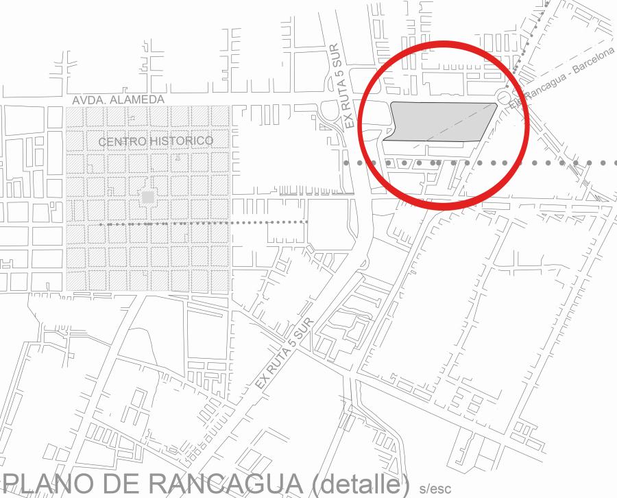 """Ubicación del """"Centro Cultural y Espiritual Gaudí"""" en el Parque Cataluña de Rancagua. Archivo de Christian Matzner"""