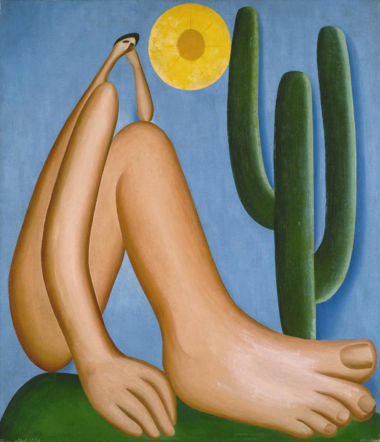 Tarsila do Amaral, Abaporu, 1928, óleo sobre tela, 85 x 73 cm. Colección MALBA, Museo de Arte Latinoamericano de Buenos Aires. © Tarsila do Amaral Licenciamentos