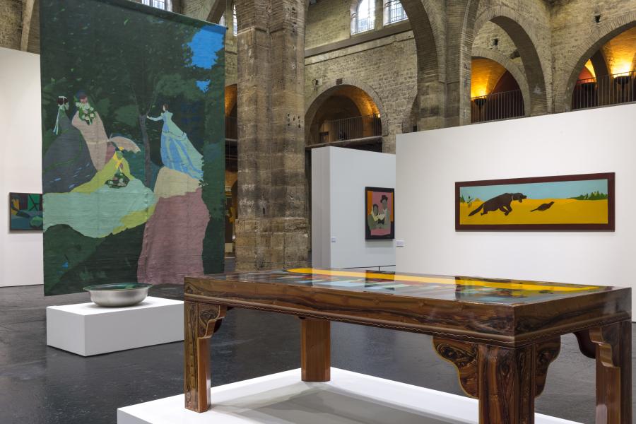 """""""Beatriz González: Retrospectiva 1965 - 2017"""". Vista de la exposición en el CAPC - Museo de Arte Contemporáneo de Burdeos (Francia), 2017-2018. Foto: Frédéric Deval, Mairie de Bordeaux. Cortesía: CAPC"""