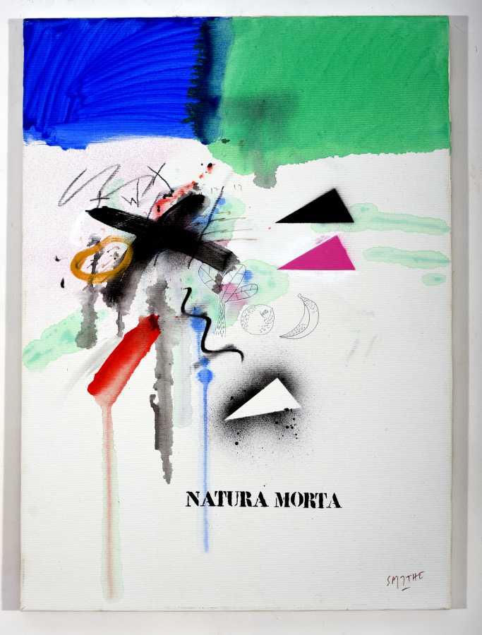 "Francisco Smythe, ""Natura Morta"", 1985, Firenze, Italia, acrílico sobre tela, 70 x 50 cms"