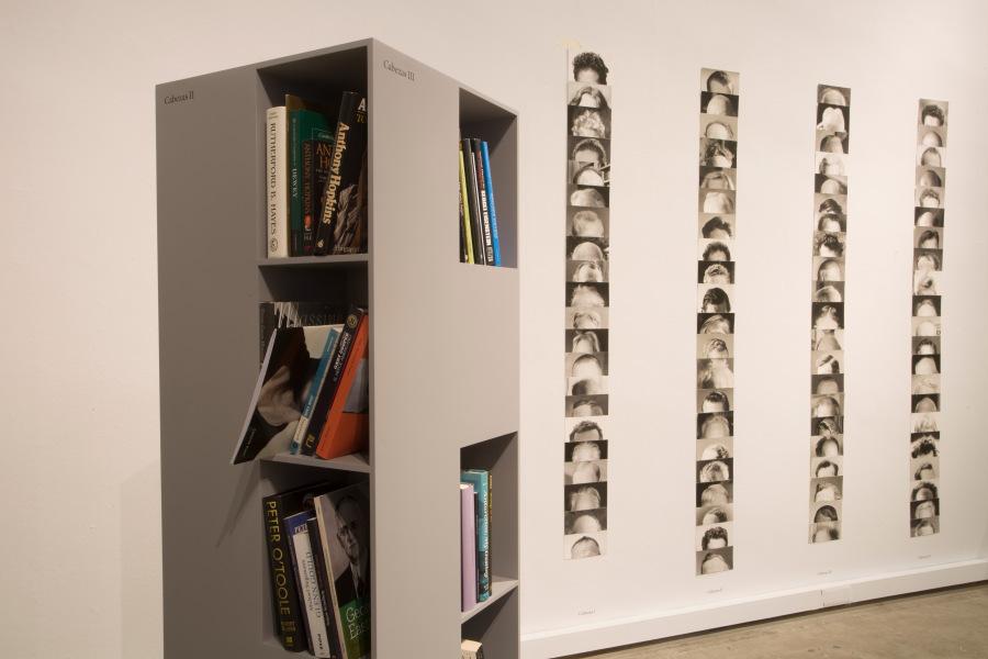 """Intervención de Iñaki Bonillas en """"Bibliotecas Insólitas"""", Arts Santa Mònica (Barcelona, España), 2018. Foto: Marta Becerra"""