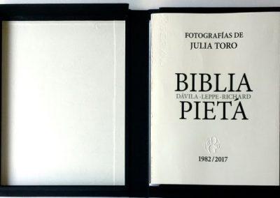 Julia Toro Donoso, Biblia/Pietá, de Carlos Leppe, Juan Dávila y Nelly Richard. Cortesía: galería Isabel Aninat