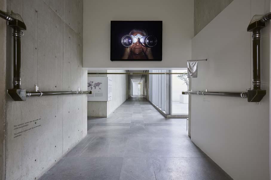 """HCI, 2004. Vista de la exposición """"Colateral"""", de Yoshua Okón, en el MUAC, Ciudad de México, 2017-2018. Cortesía: MUAC"""