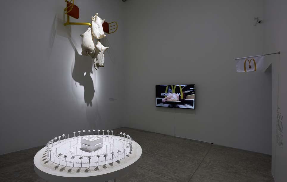 """Vista de la exposición """"Colateral"""", de Yoshua Okón, en el MUAC, Ciudad de México, 2017-2018. Cortesía: MUAC"""
