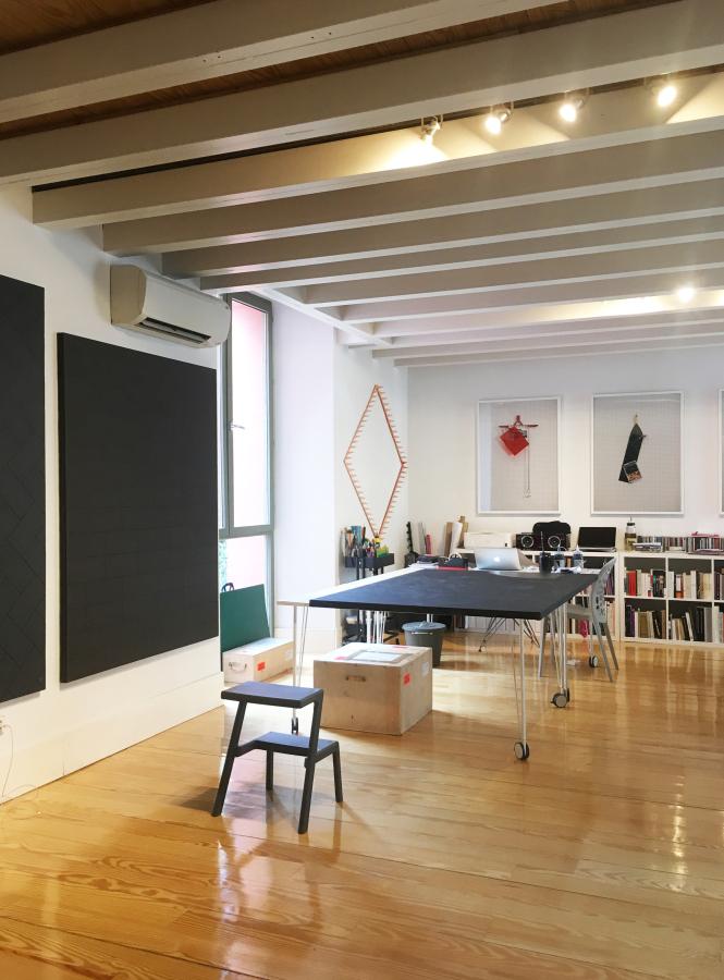 Estudio del artista chileno Patrick Hamilton en Madrid. Cortesía: Open Studio Madrid