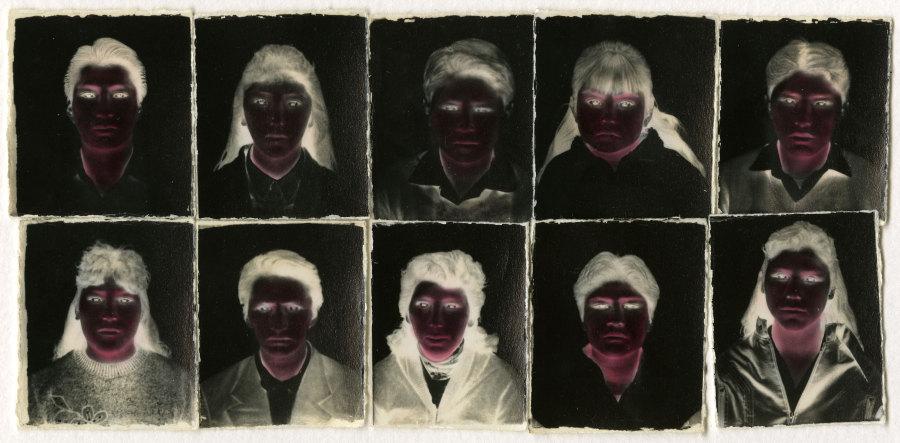 Milagros de la Torre (Peru, b. 1965), Bajo el sol negro, Cuzco, Peru, 1993. Toned gelatin silver prints retouched by hand, mercurachrome, vintage prints. Collection of Leticia & Stanislas Poniatowski, Paris