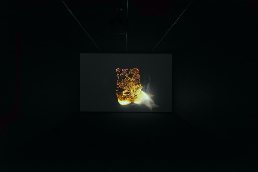 """Vista de la exposoción """"Entropías"""", de Gabriel de la Mora, en proyectosmonclova, Ciudad de México, 2018. Foto: Rodrigo Viñas. Cortesía del artista y de la galería"""