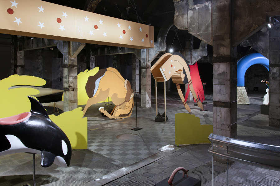 "Teresa Solar, ""Cabalga cabalga cabalga"", en Abierto x Obras, Matadero Madrid, 2018. Foto: Paco Gómez / Matadero Madrid"