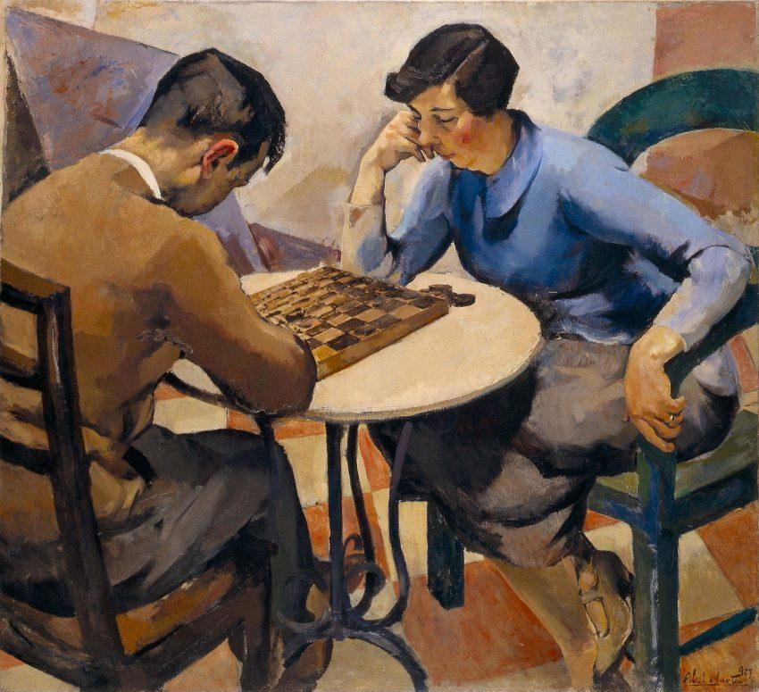 Abel Manta, Juego de Damas, 1927, óleo sobre tela, 106 x 116 cm. Museu Nacional de Arte Contemporánea do Chiado