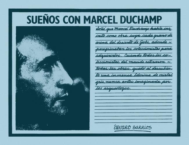 Sueños con Marcel Duchamp. 1980-2010. Serigrafía sobre papel. Edición de 100 hojas manuscritas con 40 textos distintos. (s.d.)