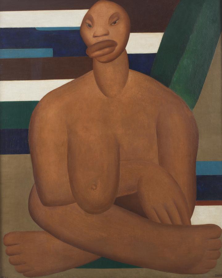 Tarsila do Amaral, A Negra, 1923, óleo sobre tela, 100 x 81.3 cm. Museo de Arte Contemporânea de Universidade de São Paulo. © Tarsila do Amaral Licenciamentos