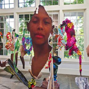 Joiri Minaya, #dominicanwomengooglesearch, 2017. Vista de la instalación en Wave Hill, Nueva York. Foto: Stefan Hagen