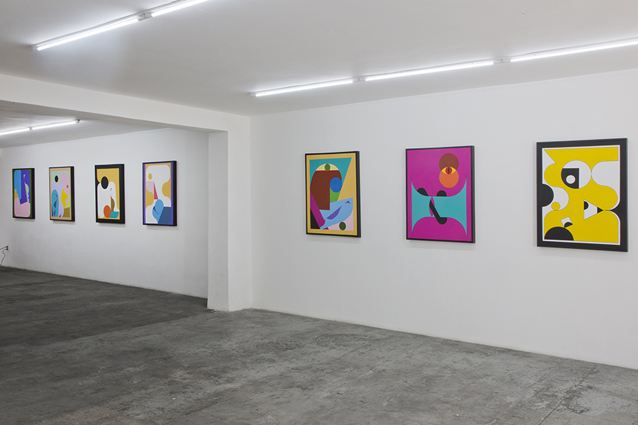 Vista de la muestra Playground 2.0 CDMX de Ad Minoliti en Galería Agustina Ferreyra, Ciudad de México. Foto: cortesía de la galería.
