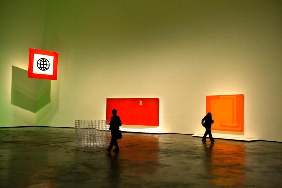 """Vista de la exposición """"El Arte y el Espacio"""" (Sala 6), en el Museo Guggenheim Bilbao, 2018. Foto: Leyla Dunia"""