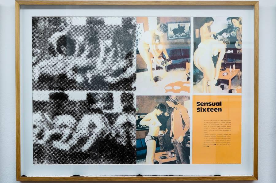 """Vista de la exposición """"Pornography in color"""" de la artista Isidora Bravo, en Sala Dos/Project en D21, Santiago de Chile, 2018. Cortesía de la galería"""