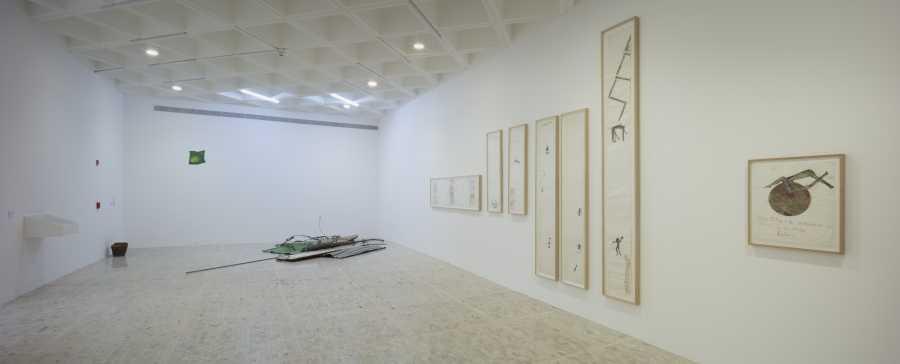 """Vista de la exposición """"Artaud 1936"""", en el Museo Tamayo, Ciudad de México, 2018. Foto: © Agustín Garza. Cortesía: Museo Tamayo"""