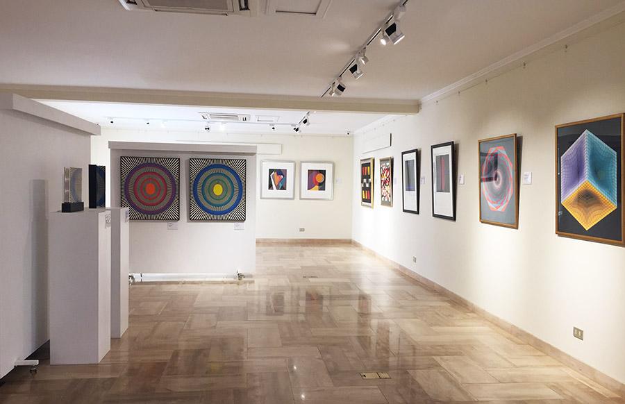 Vista de la nueva sala dedicada al arte cinético y geométrico del Museo Ralli de Santiago, Chile. Foto: cortesía del museo.