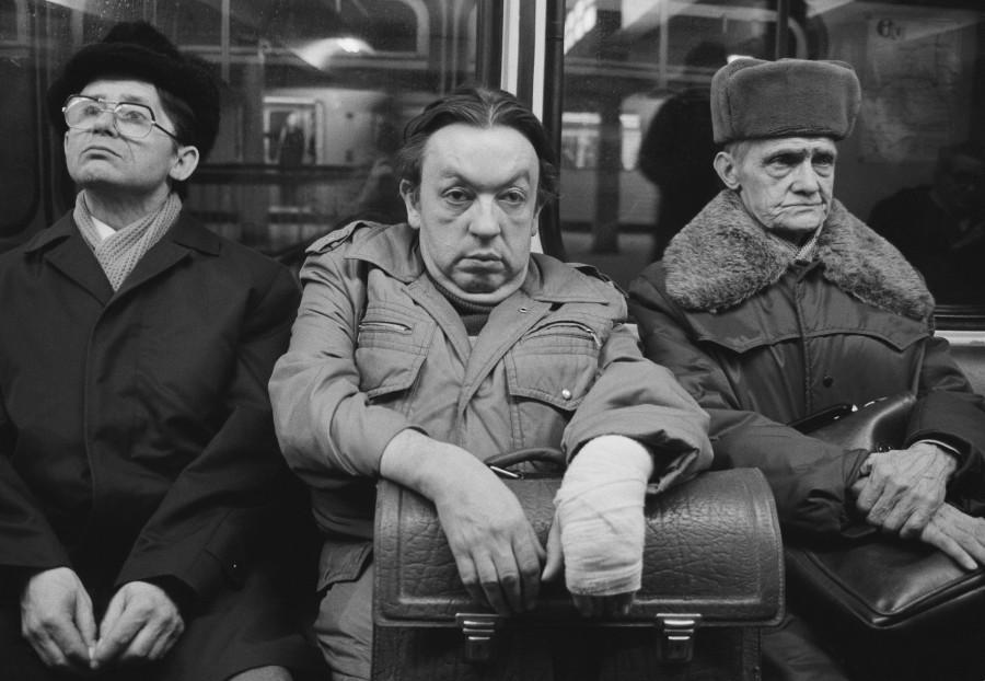 Harald Hauswald, U-Bahnlinie A, Ost-Berlin, 1986, DDR. En el Goethe Institut de Madrid, como parte de PHotoESPAÑA 2018