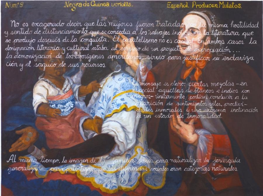 """Sandra Gamarra, """"Producto (castas)"""", 2015, óleo sobre tela, 97 x 130 cm. Cortesía: Galería Juana de Aizpuru, Madrid"""