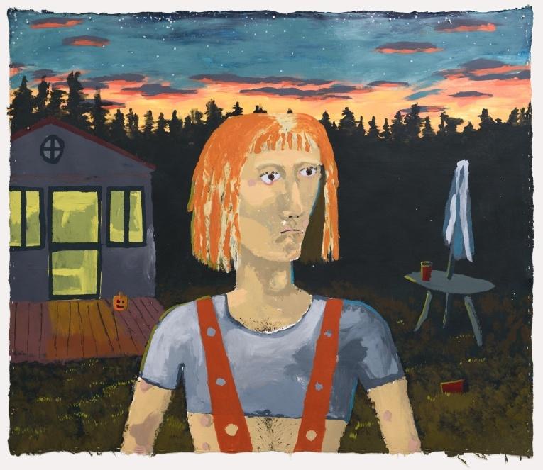 Manuel Solano, I Do not Know Love, 2017, acrílico sobre lienzo, 202 x 171 cm. Cortesía del artista