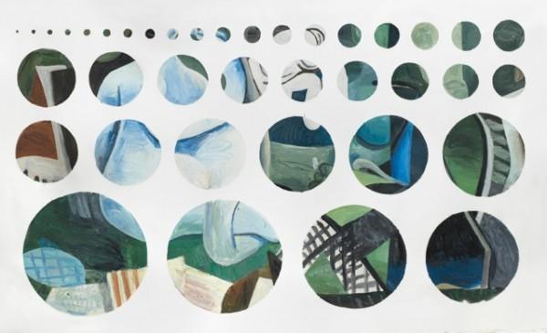 Jorge Macchi, Cover 01, 2012, óleo sobre tela. Foto: Gustavo Lowry