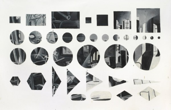 Jorge Macchi, Cover 04, 2012, óleo sobre tela. Fotografía: Gustavo Lowry