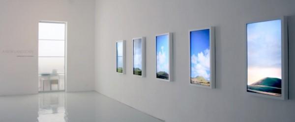 Gianfranco Foschino, vista de A New Landscape en la Galería Leyendecker, Santa Cruz de Tenerife. Cortesía: Galería Leyendecker