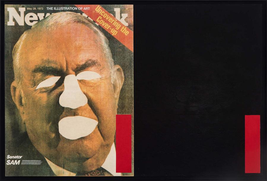 Antonio Dias, A ilustração da arte - descobrindo o encobrimento, 1973, serigrafía y acrílico sobre tela, 90 x 140 cm © Jaime Acioli / Gustavo Rebello Arte