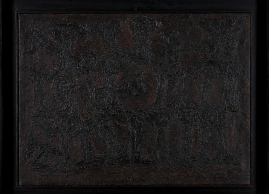 Ibere Camargo, Carretéis em tensão, 1959, óleo sobre tela, 48,5 x 65 © Pinakotheke